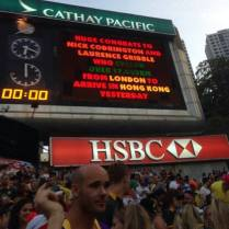 Congratulations on the HK Sevens big board, 29 March 15