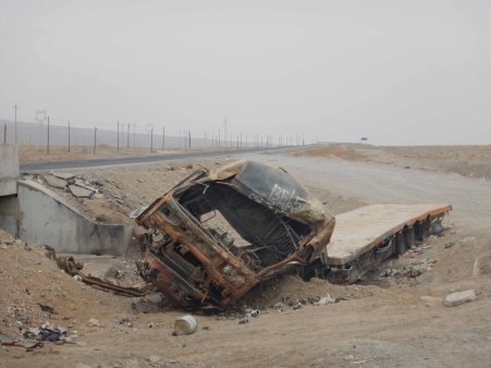 A truck which didn't make it, 5 Jan 15