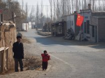 Passing through a Uighur village, 8 Jan 15