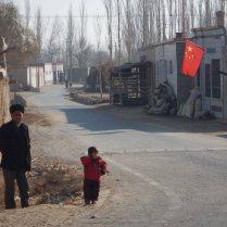 Passing through a Uighur village, 8 Jan 15