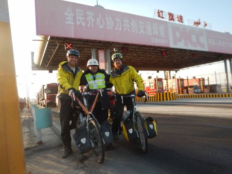 Motorway riding in Xinjiang - far more casual than in other parts of China! 8 Jan 15