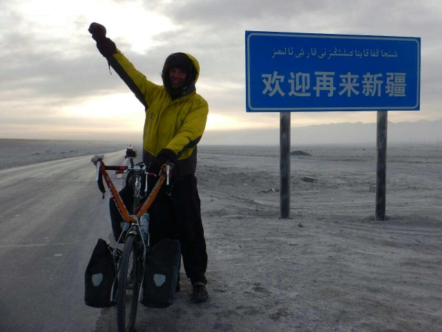 Leaving Xinjiang by an asbestos factory, 19 Jan 2015