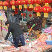 Selling fireworks on street corners