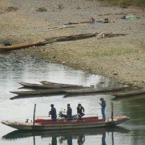 Boatmen in Guizhou province, March 2015