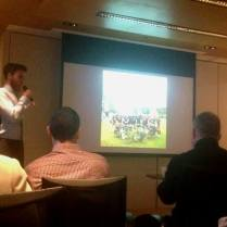 Talking about the expedition at the Royal Geographical Society, Hong Kong, 1 April 15