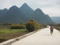 Cycling around Yangshuo, 12 March 15