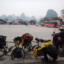 Setting out from Yangshuo, 13 Mar 15