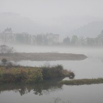 Mist over a river in southern China, 15 Mar 15