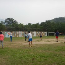 Teaching the Yinghao schoolkids some rugby, 22 Mar 15
