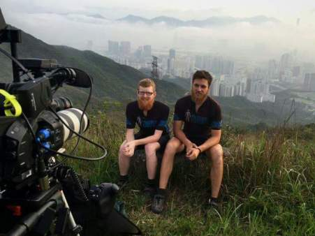 Filming in some stunning HK locations after arrival